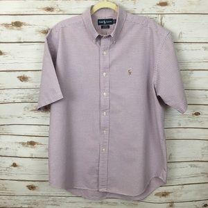 Ralph Lauren Blake Blue Pink White Print Shirt